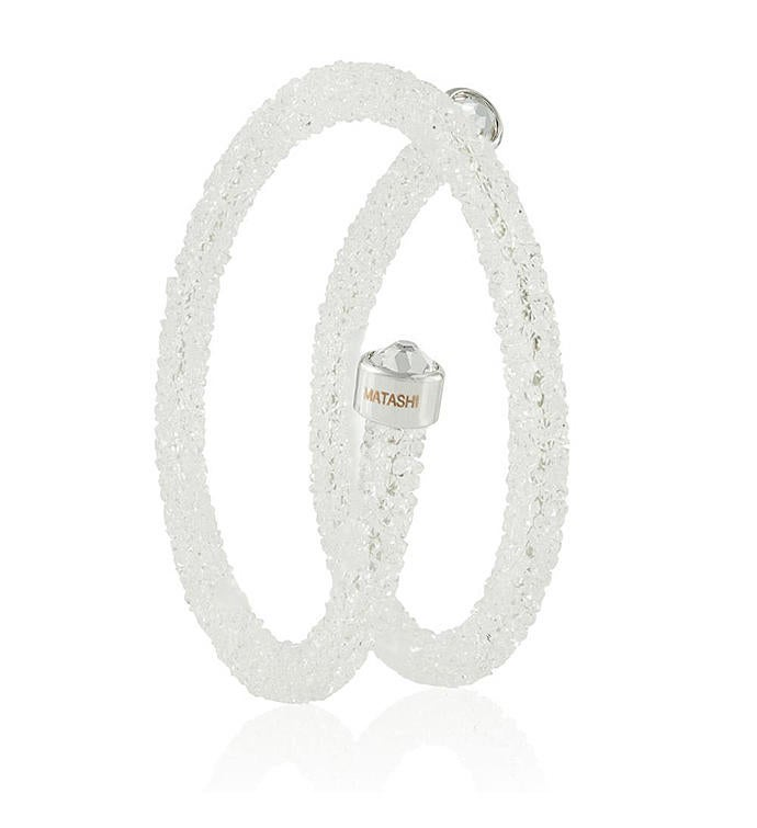 White Wrap Around Luxurious Crystal Bracelet