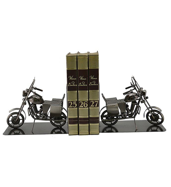 Motorcycle Bookends Pair