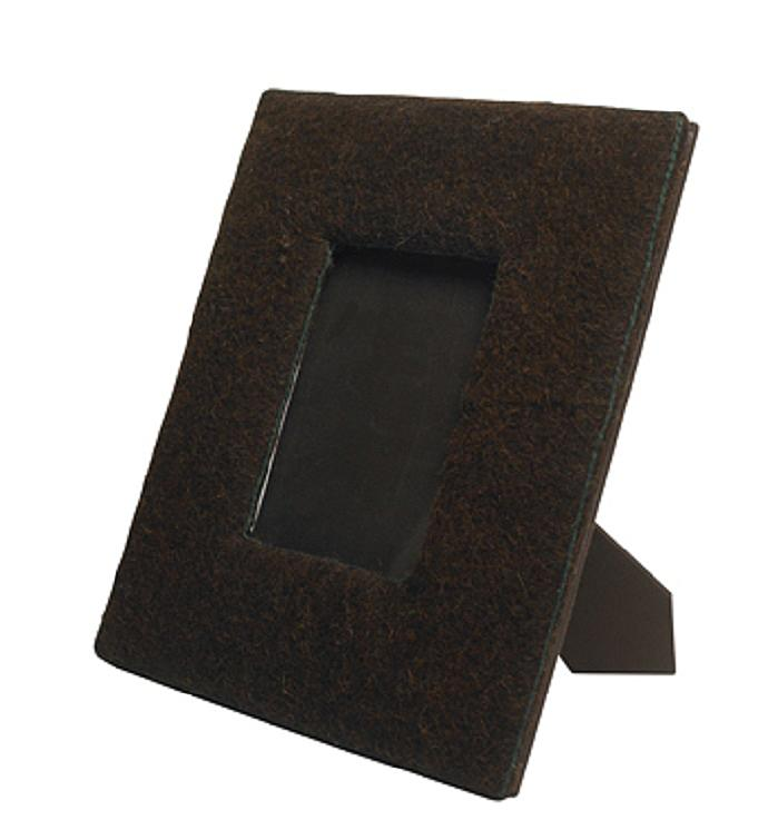 Felt Covered Frame in Chocolate