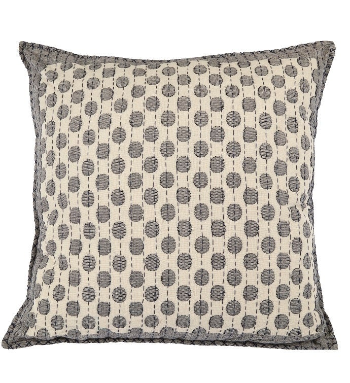 Artisan Hand Loomed Cotton Square Pillow