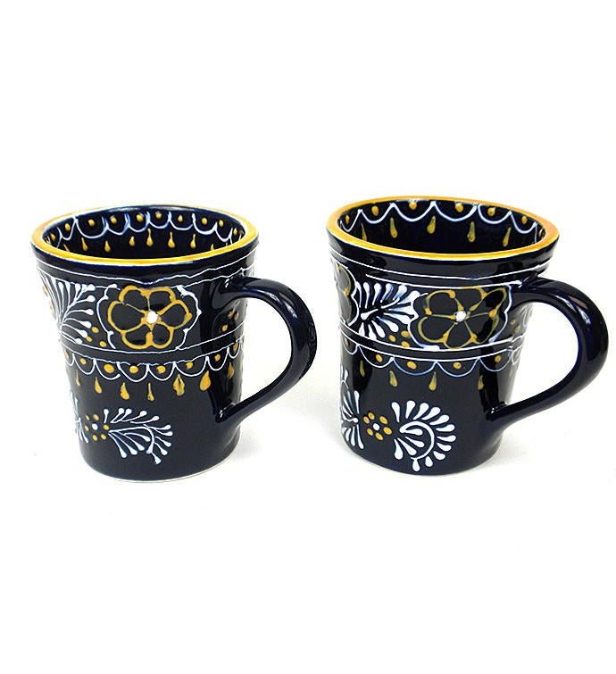 Global Crafts Encantada Handmade Pottery Mugs