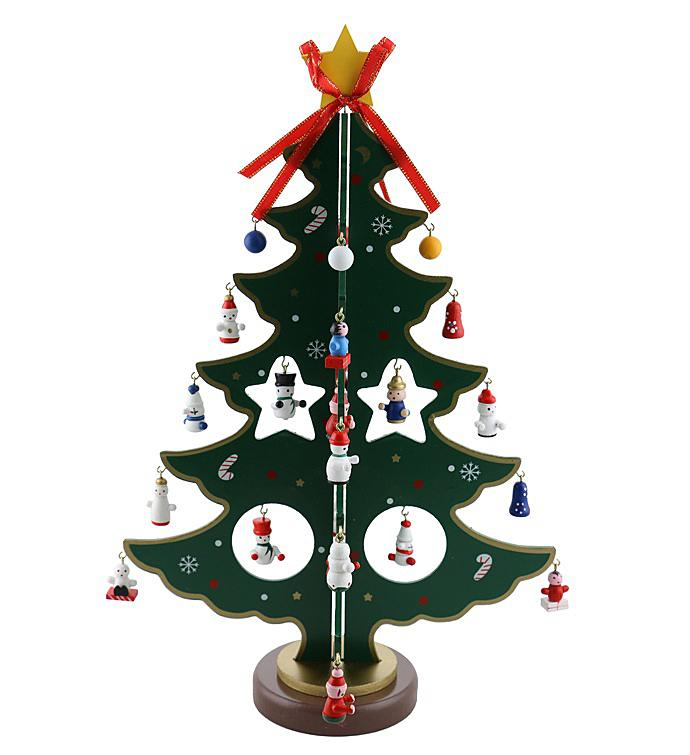 Green Wooden Christmas Tree