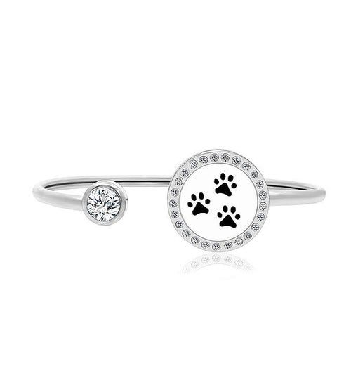 Paw Prints Essential Oil Twistable Cuff Bangle