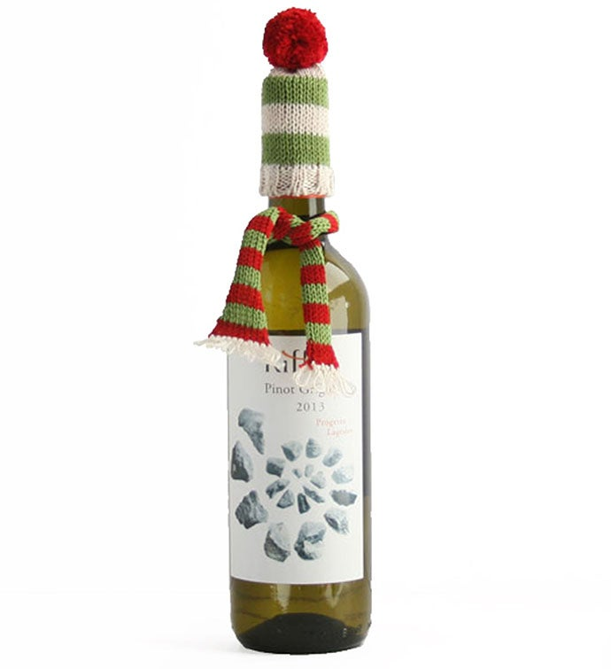 Wine Bottle Hat  Scarf Topper