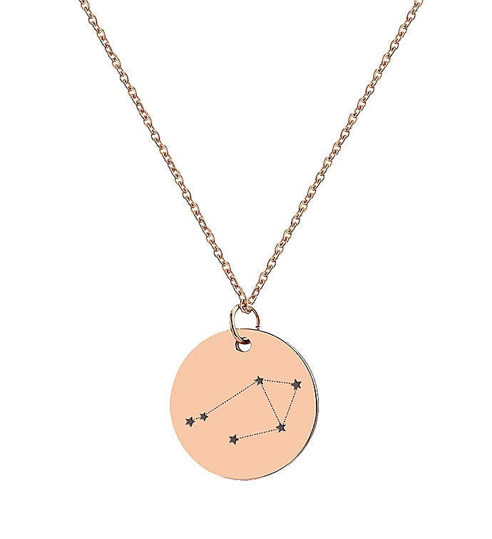 Rose Gold Astrological Star Sign Necklace