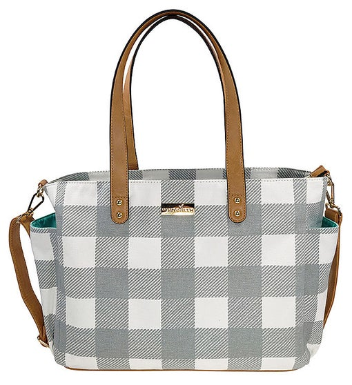 White Elm Aquila Tote Bag - Gray Buffalo Check