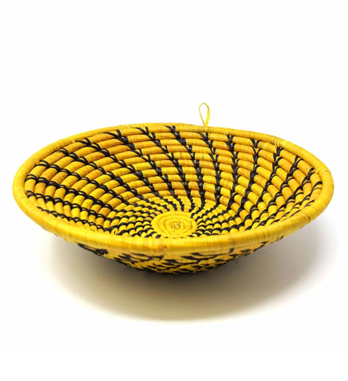 Handmade Sisal Yellow Fruit Basket