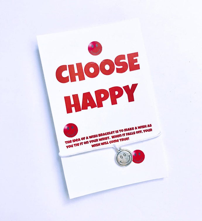 Choose Happy Wish Bracelet
