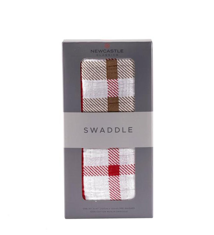 Cotton Muslin Swaddle - Plaid