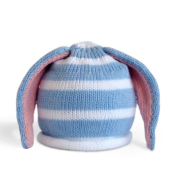 Baby Hat with Stripes  Rabbit Ears