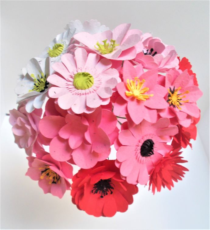 Pink Plantable Seed Paper Bouquet