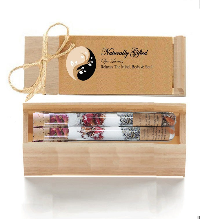 Spa Luxury Salt Tubes In Wood Box