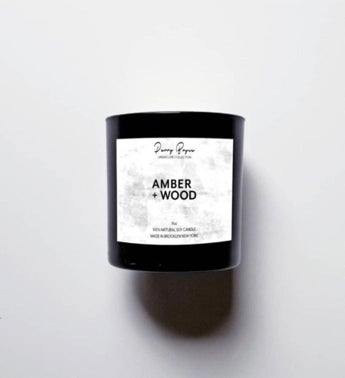 100% Natural Soy Candle - Amber + Wood