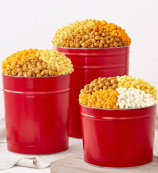 Simply Red Popcorn Tins