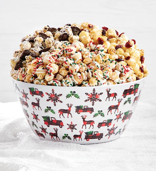 Very Merry Plaid Popcorn Bowl